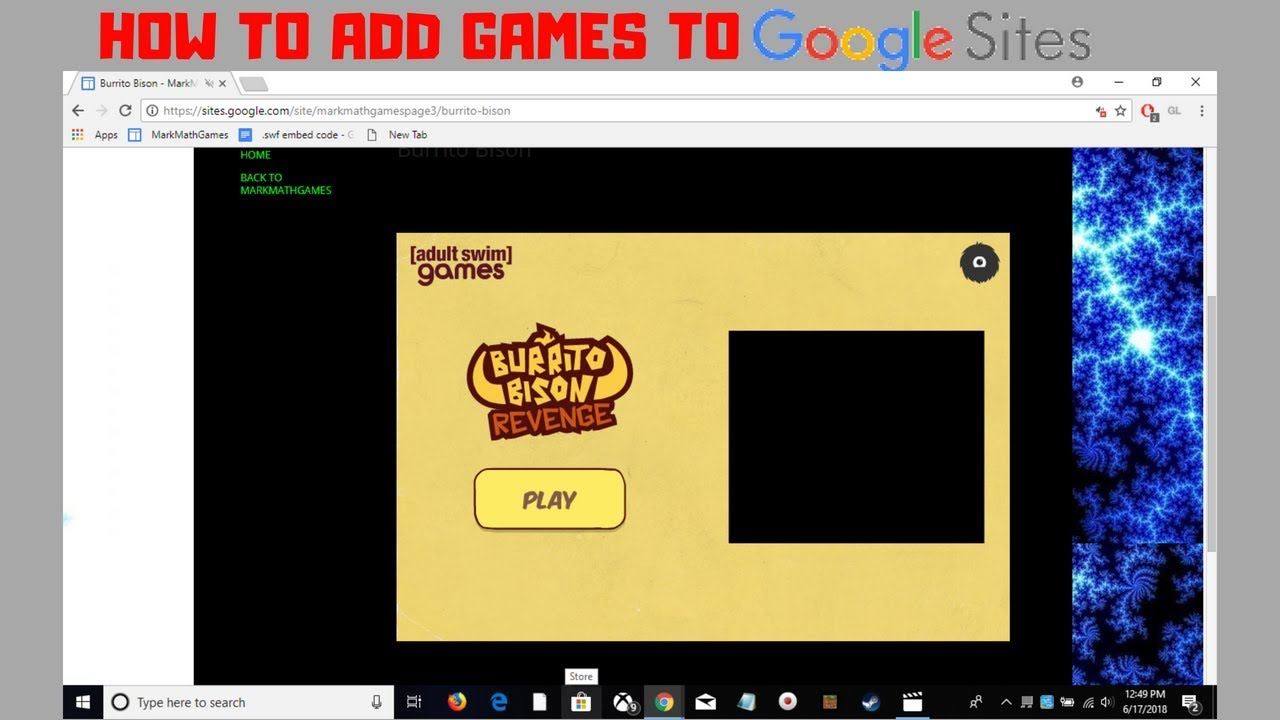 How To Add Flash Games To Google Sites 2018 New Youtube