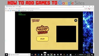 How To Add Flash Games To Google Sites | 2018 | New