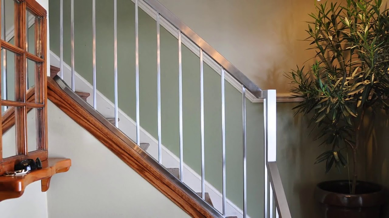 Stainless Steel Railing Design For Stairs Uk Youtube   Steel Hand Railing For Stairs   Rustic   Exterior   Backyard   Low Cost   Decorative