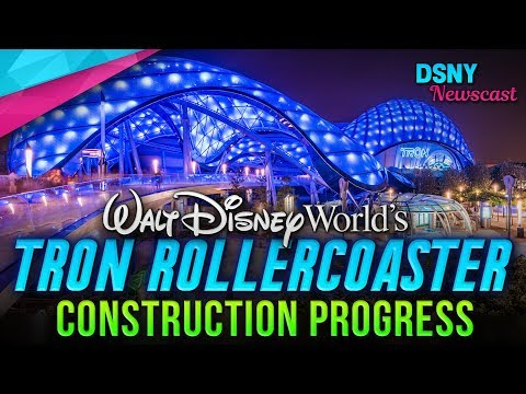 Walt Disney World's TRON ROLLERCOASTER Construction Progress - Disney News - 3/19/19