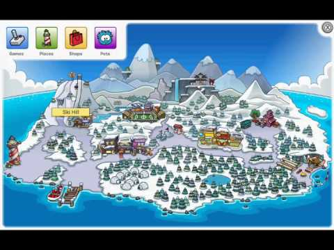 Club Penguin Map Club Penguin   New Map 2011   YouTube