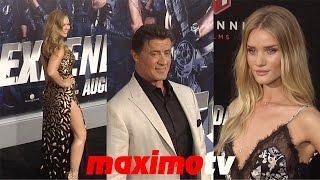 """The Expendables 3"" LA Premiere Sylvester Stallone, Ronda Rousey, Jason Statham, Dolph Lundgren"