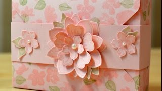 Painted Petals Thank You Card Box - JanB UK Stampin