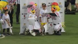 20170814 H-F 始球式:酒井藍(吉本新喜劇史上初女性座長)