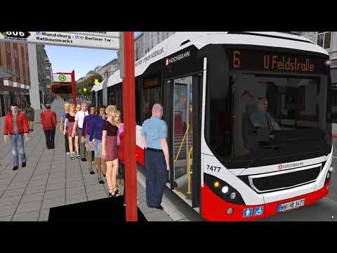 OMSI 2 - Hamburg Line 6 Articulated Bus Gameplay! 4K