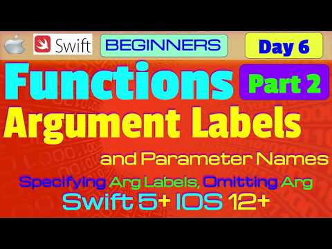 IOS, Swift 5, Interview Theory, Tutorial, #06 P2: Functions (Argument Labels & Parameter Names) thumbnail