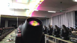 Super beam 380 with original Osram bulb beam moving head light aging testing