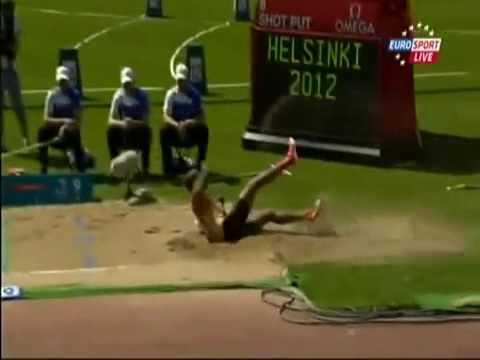 Alyn Camara 10 meter Long Jump FOUL