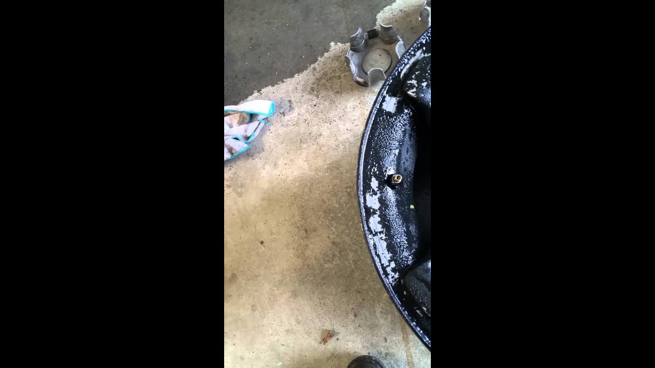 Removing spray paint from your rims