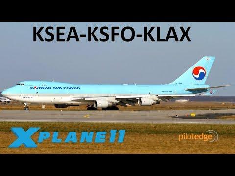 X-Plane 11 | Cargo Hauls in the 747!! | B748F | PilotEdge | Seattle, San Francisco, Los Angeles!!
