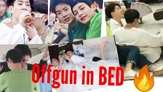Offgun #oishisummertrip2019 Full Moment, Hug, Clingy, In Bed Together #offgun #b