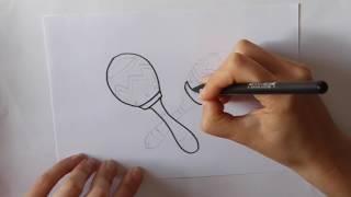 Cómo dibujar unas Maracas Dibuja Conmigo Dibujos de Instrumentos