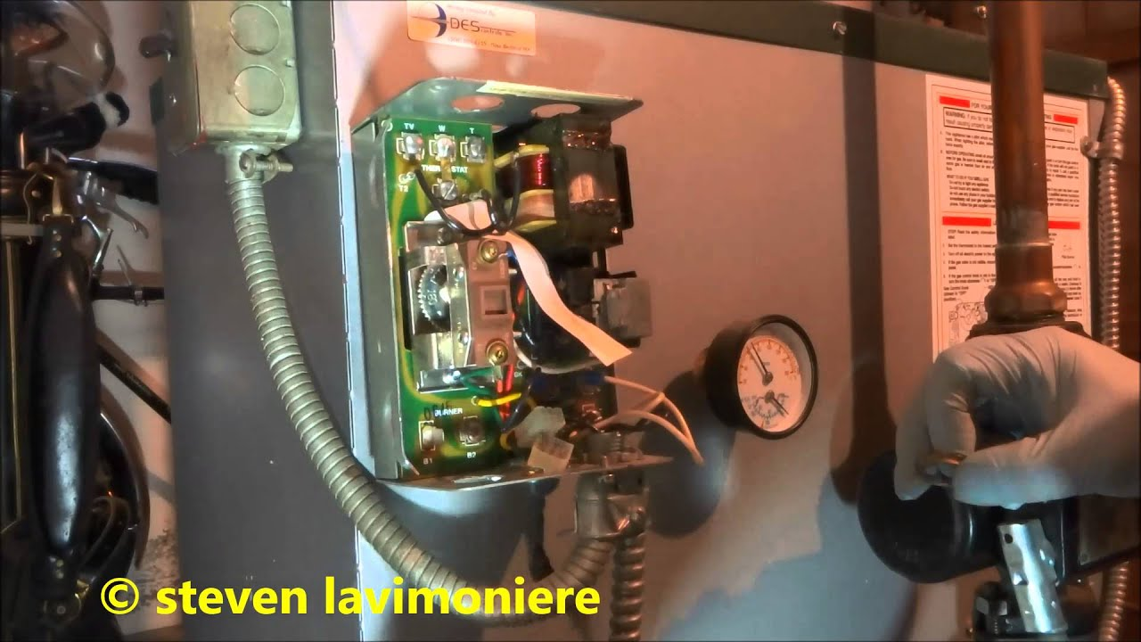 gas fired boiler bad main operating control Honeywell L8148E  YouTube