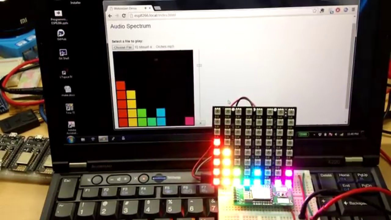 ESP8266 Audio Spectrum Analyzer