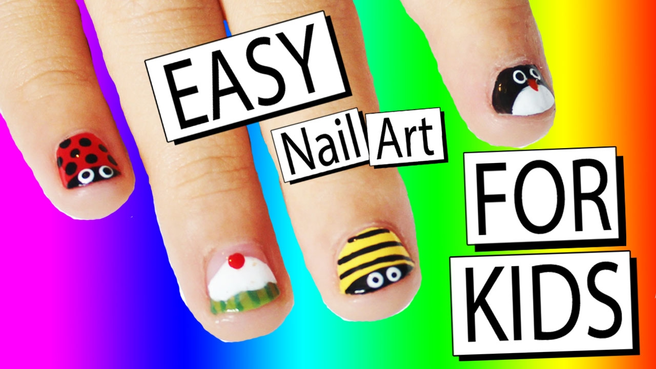 5 Easy Nail Art Designs For Kids | Nailed It NZ - YouTube