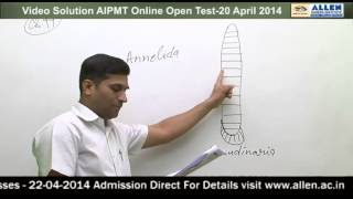 AIPMT -2014 All India Online Open Test Solutions- Biology Q.92,99,102,109