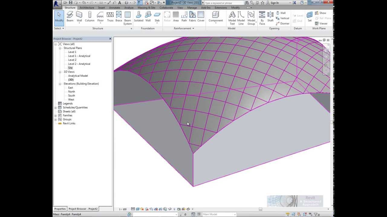 Tutorial Conceptual Massing And Revit Structure 2014
