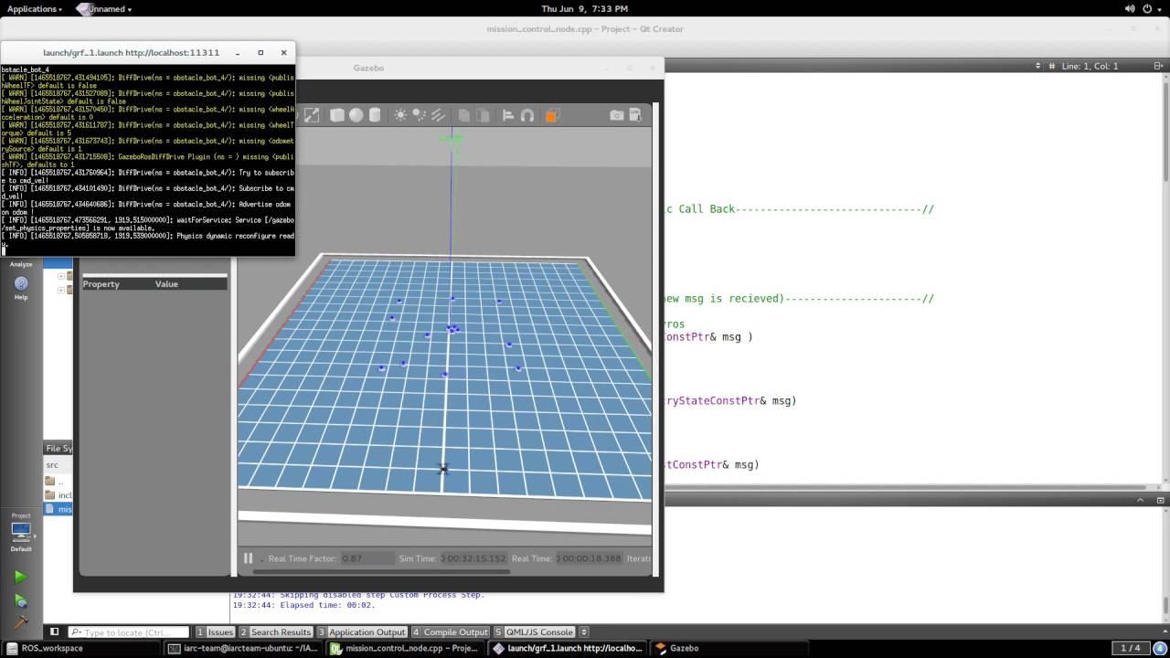 Gazebo / ROS with Qt Creator Demo