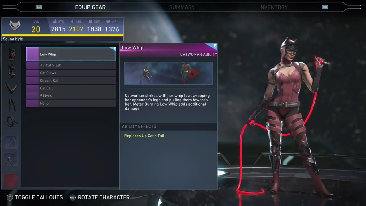 Catwoman Injustice  Cat Call Ability