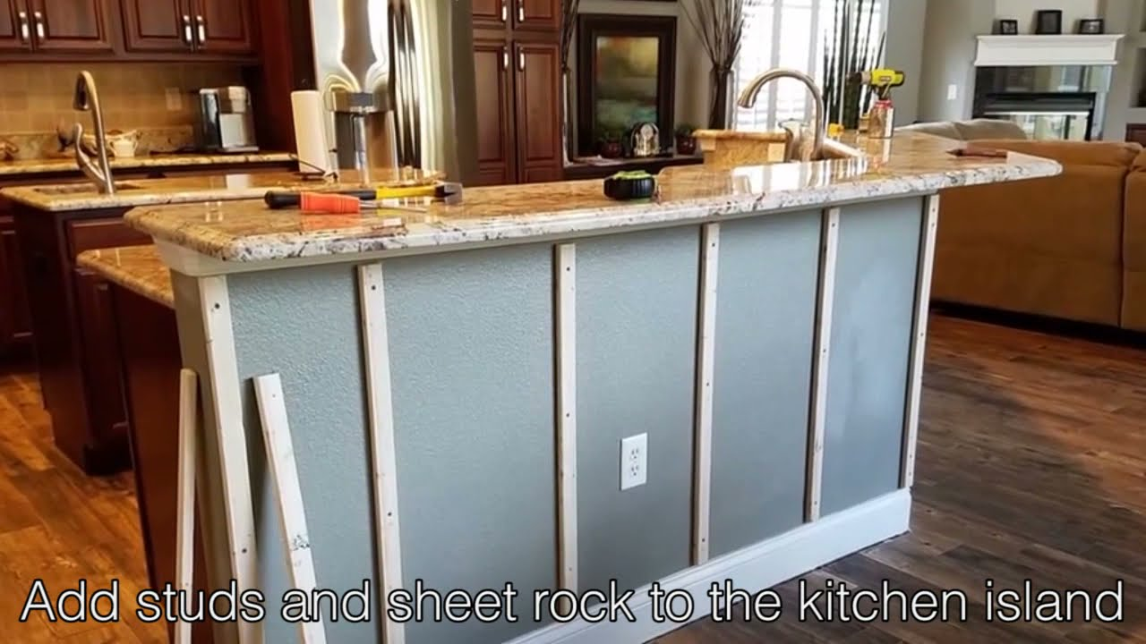 DIY Kitchen Islands: How to Easily Install a Stone Style Finish