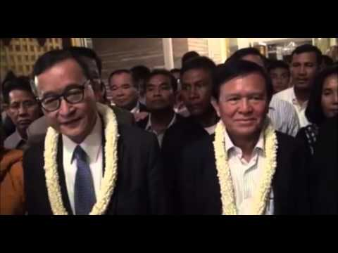 Kem Sokha and I arrived tonight at Phnom Penh International Airport.