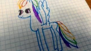 Урок рисования пони радуги деш