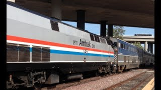 Amtrak Phase III Heritage P42DC #145 breaks down on the Surfline - 5/4/14