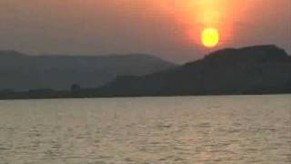 Sunset : Narmada River: Jabalpur: Tourist Attractions of India.