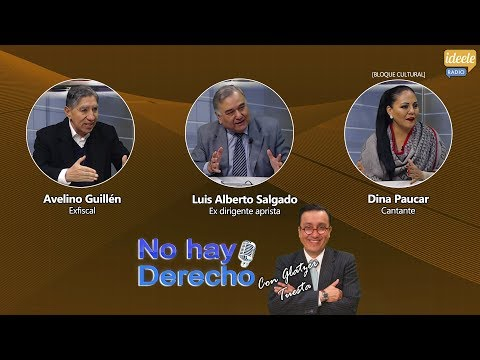 Avelino Guillén, Luis Alberto Salgado, Dina Paucar conversan con Glatzer Tuesta [19-08-2019]
