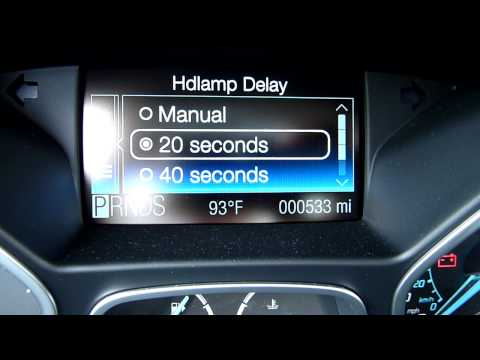 2012 Ford Focus: LCD Message Center
