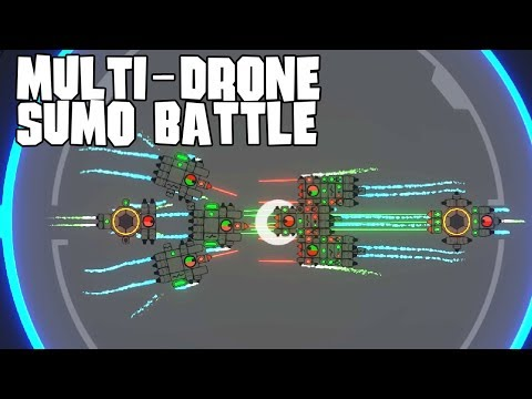 Multi-Drone Sumo Battle | NIMBATUS - The Space Drone Constructor Gameplay