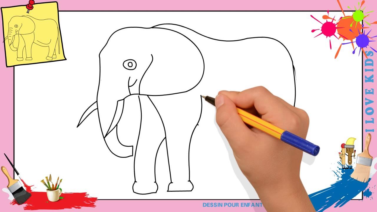 Top Dessin éléphant - Comment dessiner un éléphant FACILEMENT pour  HP67