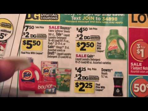 Dollar General 8/5/17 Breakdown #1 | Saturday Only  $5 off $25 (ALL DIGITAL COUPONS)