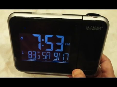 La Crosse Projection Alarm Clock W85923 - How to Change Time, Alarm, Date