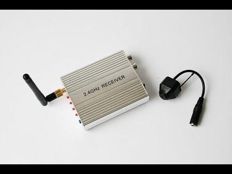 Kit 2.4G Wireless Camera - 2.4 GHz Receiver  - SPY.EU