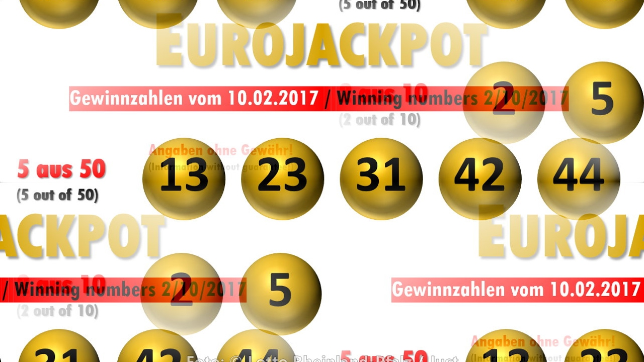 Eurojackpot Gewinzahlen