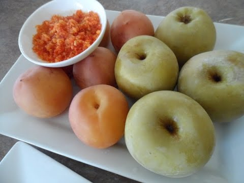 Pickled Young Yellow Peach and Granny Smith Apple How to Pickle