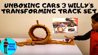 Unboxing  Car Willy's Transforming Track set 3 ways to Play