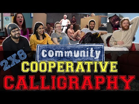 Community - 2x8 Cooperative Calligraphy - Group Reaction