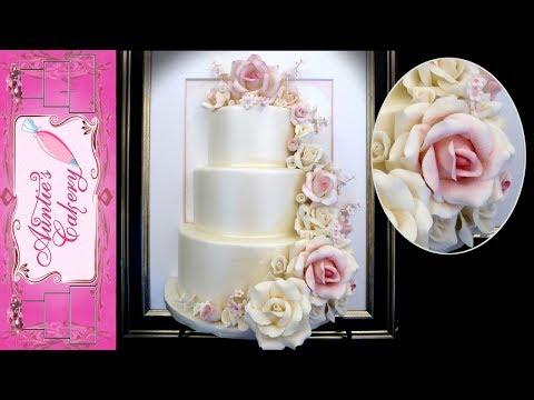Petal Cascade Display wedding Cake