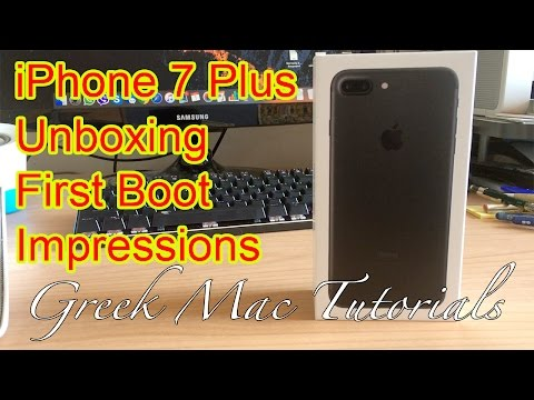 IPhone 7 Plus Unboxing - Greek Mac Tutorials