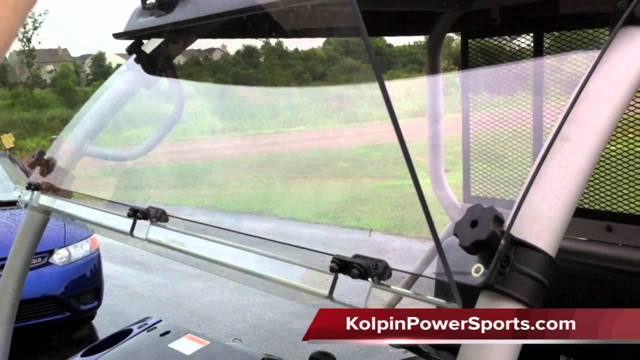 kolpin utv windshield kawasaki mule 610 - review - youtube
