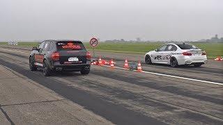 Porsche Cayenne Gemballa GT850 Biturbo vs BMW M3 F80