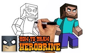 How to Draw Herobrine | Minecraft (Art Tutorial)