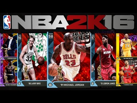 NBA2K16 MyTeam: Most Valuable Player Cards! Jordan! Kobe! LBJ!