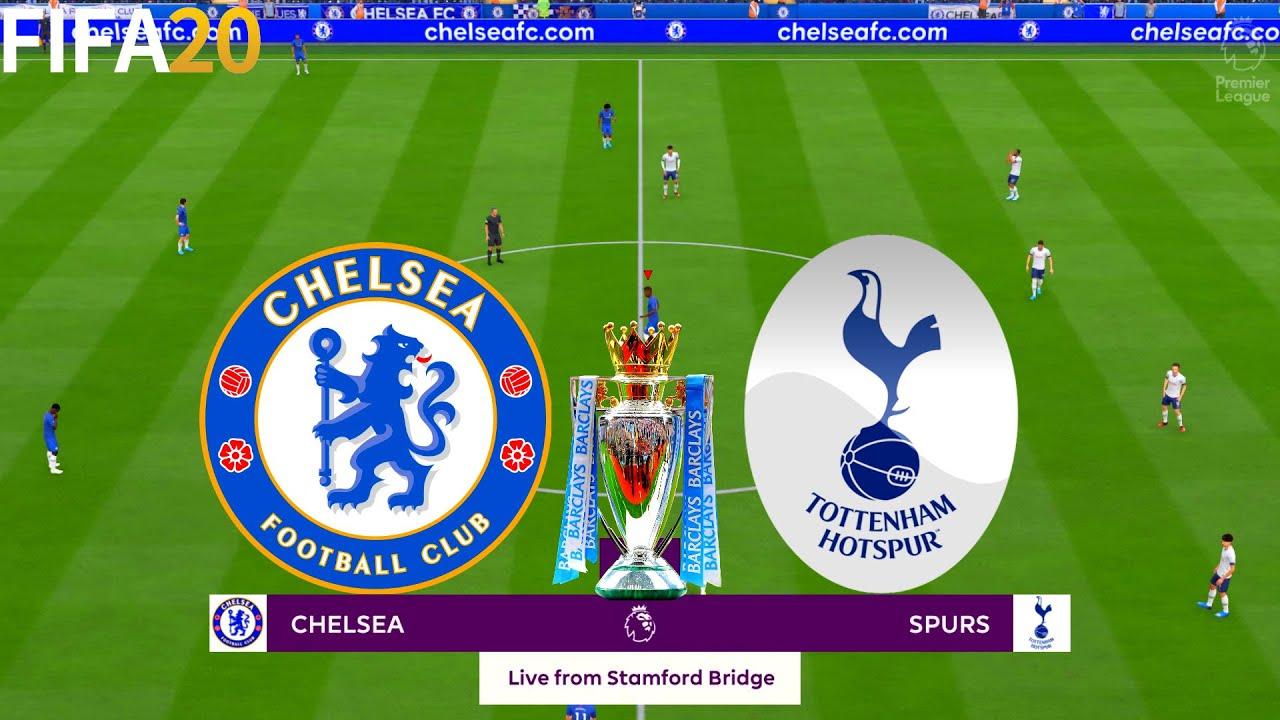 Fifa 20 Chelsea Vs Tottenham Hotspur Premier League Full Match Gameplay Youtube