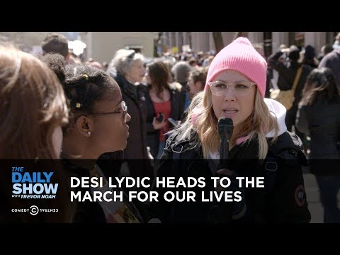 Desi Lydic Heads to the March For Our Lives | The Daily Show