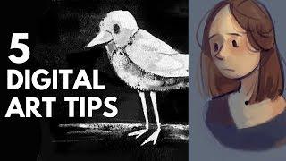 5 Beginner Digital Art Tips - Brushes & Texture
