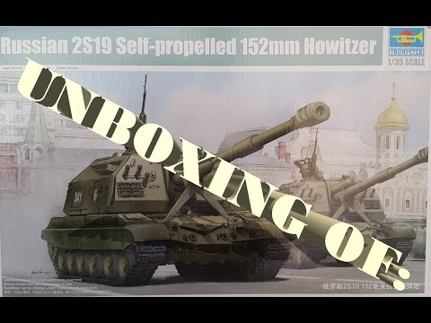 Unboxing of: 2S19 Msta-S #05574 Trumpeter 1/35 SPH
