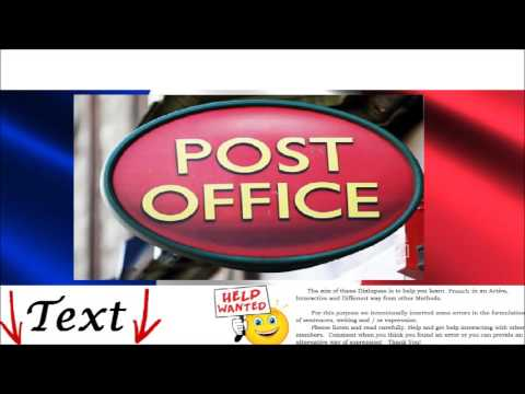 Learn French Conversation - At the post office = À la poste - Write Letter, Envelope, Stamps